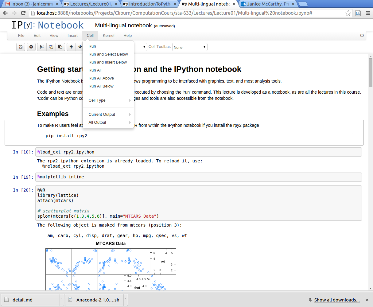 Getting started with Python and the IPython notebook