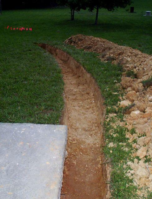 ... Main Retaining Wall Trench