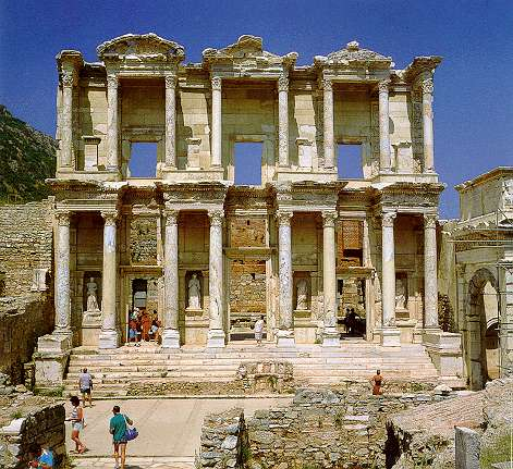 an analysis of the construction of the celsus library ordered by council julius aquila